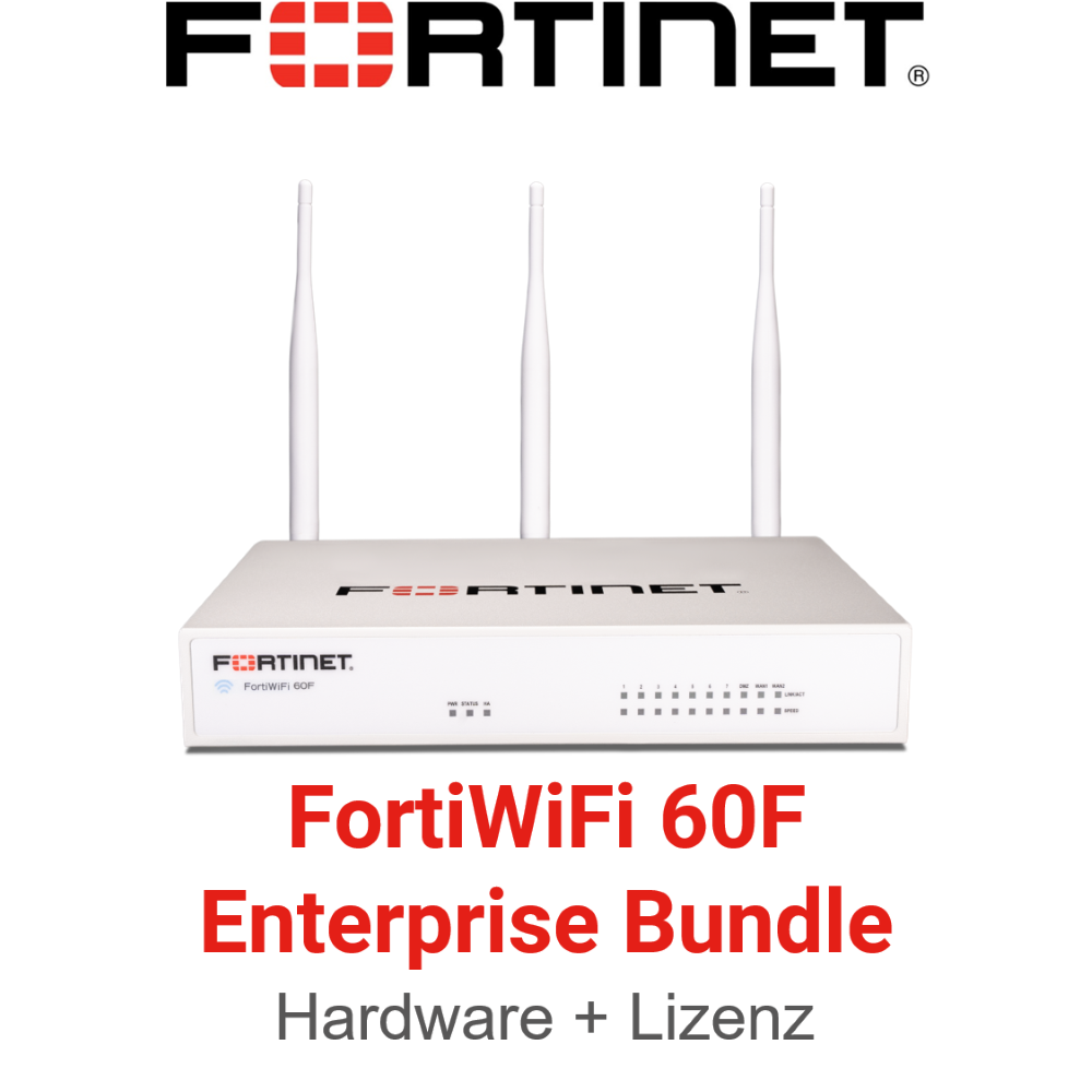 Fortinet FortiWifi 60F - Enterprise Bundle (Hardware + Lizenz)