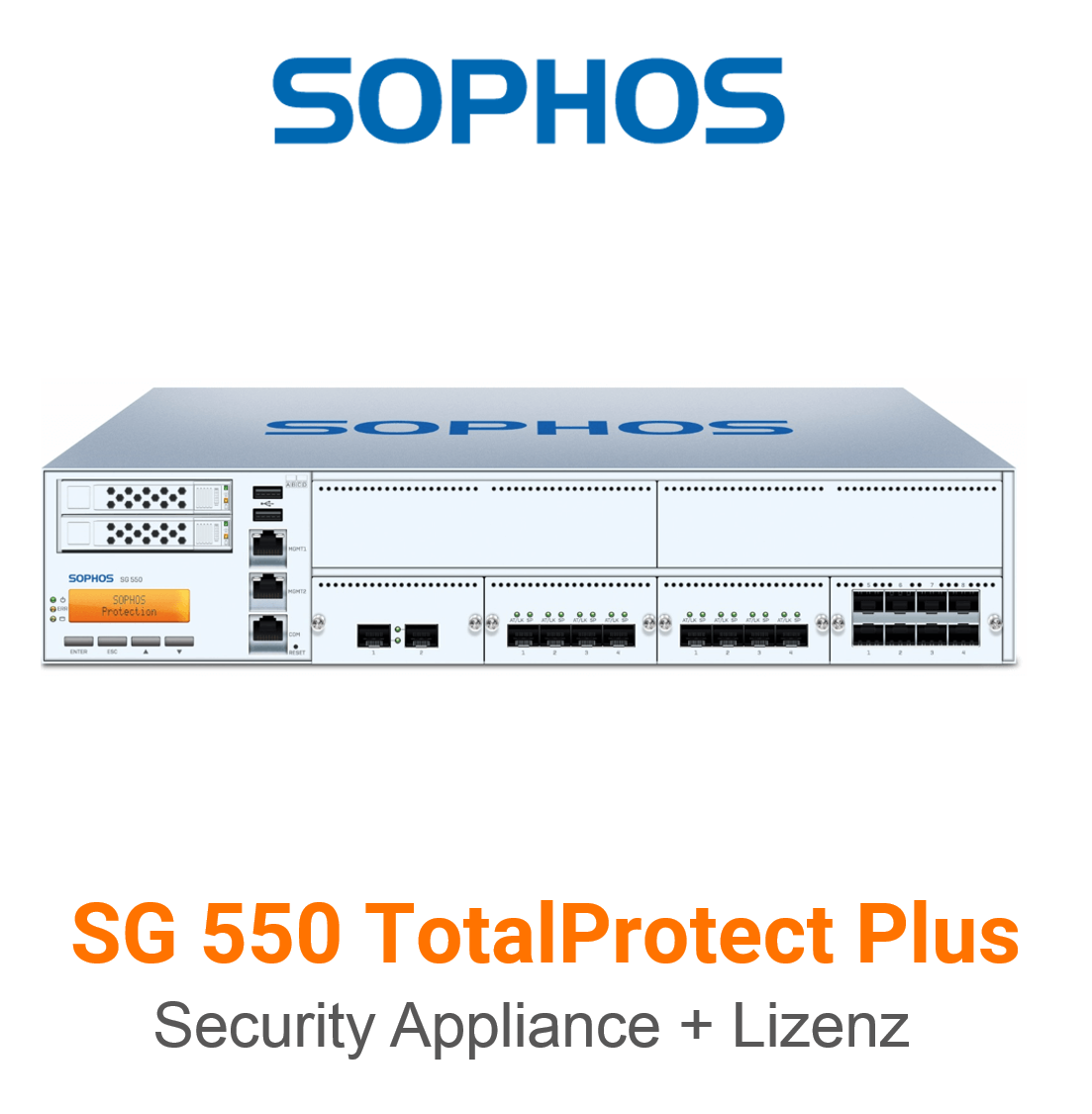 Sophos SG 550 TotalProtect Plus Bundle (Hardware + Lizenz)