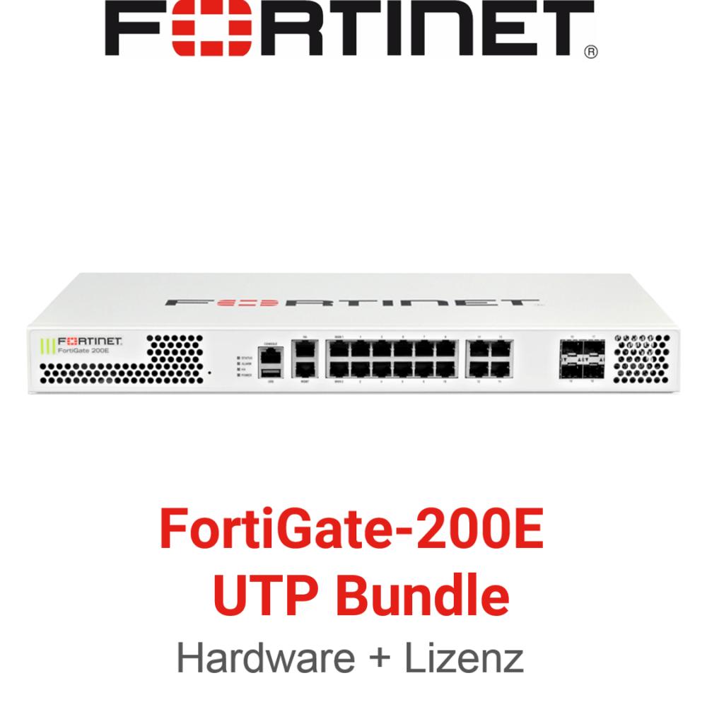 Fortinet FortiGate-200E - UTM/UTP Bundle (Hardware + Lizenz)