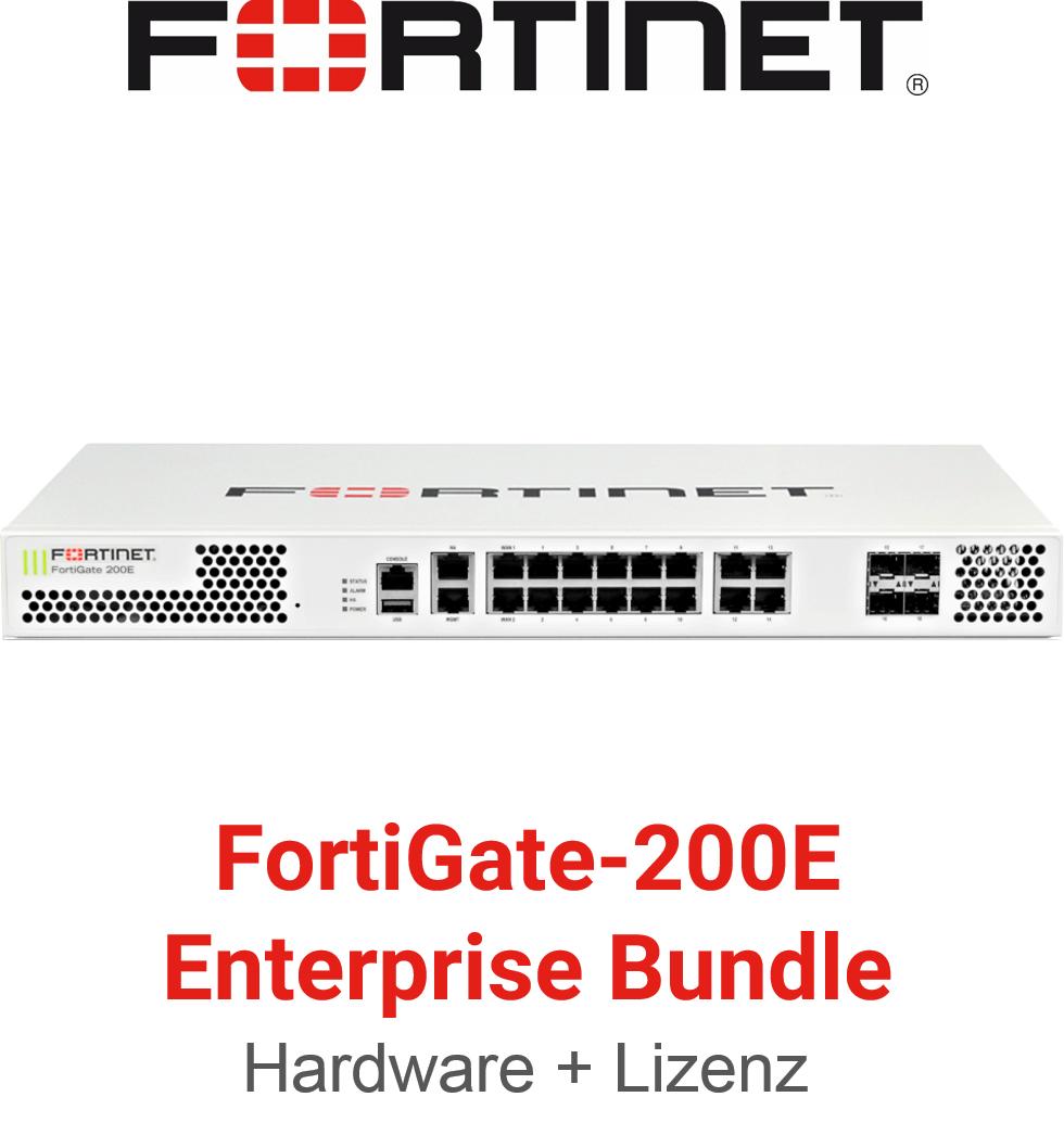 Fortinet FortiGate-200E - Enterprise Bundle (Hardware + Lizenz)