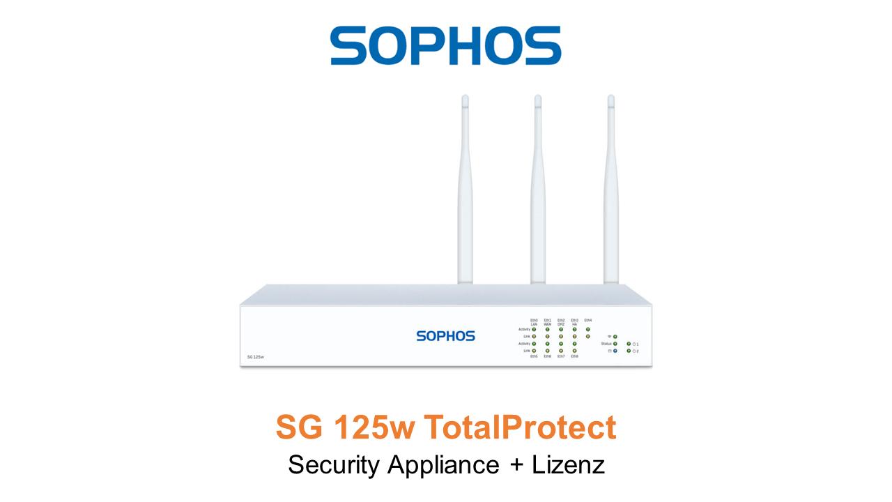 Sophos SG 125w TotalProtect Bundle (Hardware + Lizenz)