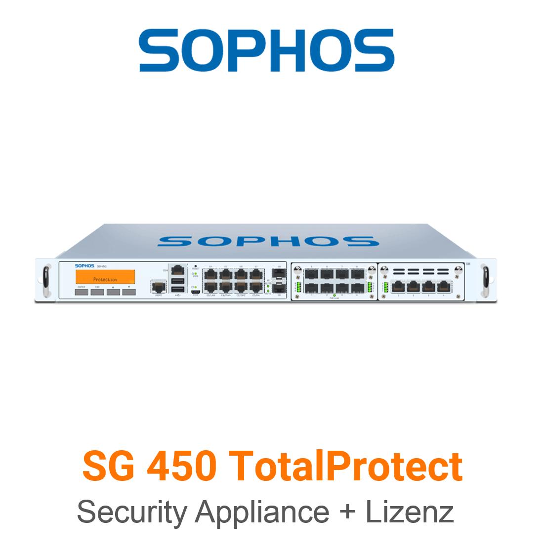 Sophos SG 450 TotalProtect Bundle (Hardware + Lizenz)