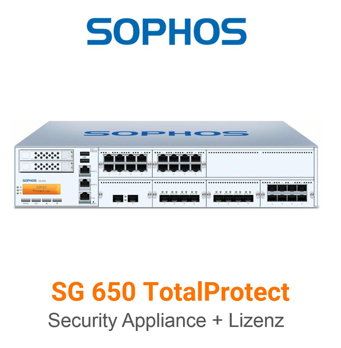 Sophos SG 650 TotalProtect Bundle (Hardware + Lizenz)