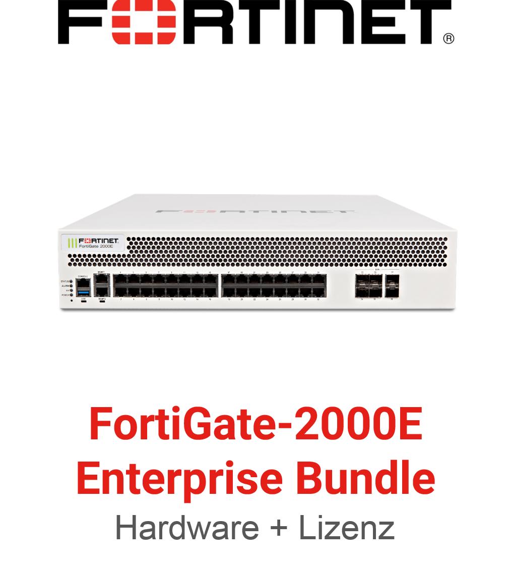 Fortinet FortiGate-2000E - Enterprise Bundle (Hardware + Lizenz)