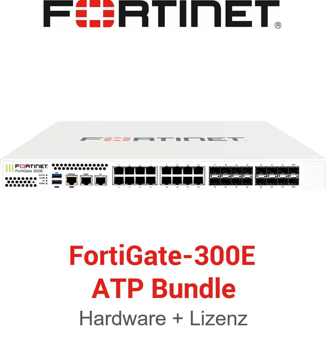 Fortinet FortiGate-300E - ATP Bundle (Hardware + Lizenz)