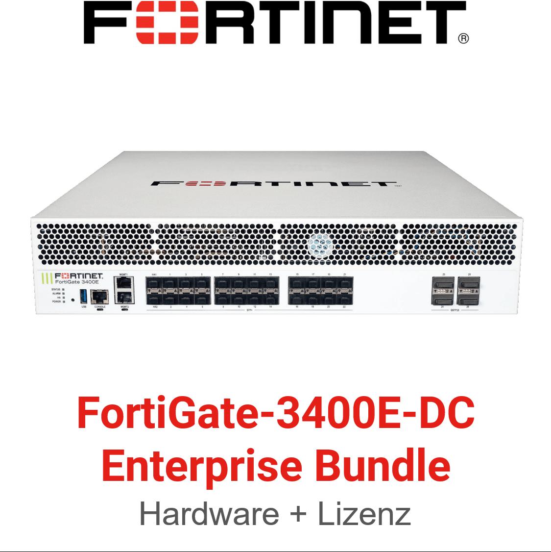 Fortinet FortiGate-3400E-DC 360 Protection Bundle
