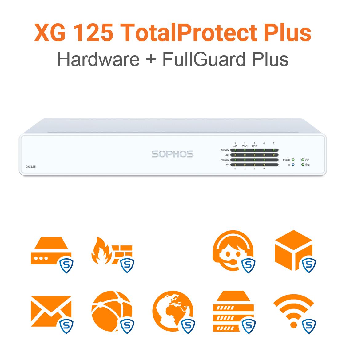 Sophos XG 125 TotalProtect Plus Bundle (Hardware + Lizenz)