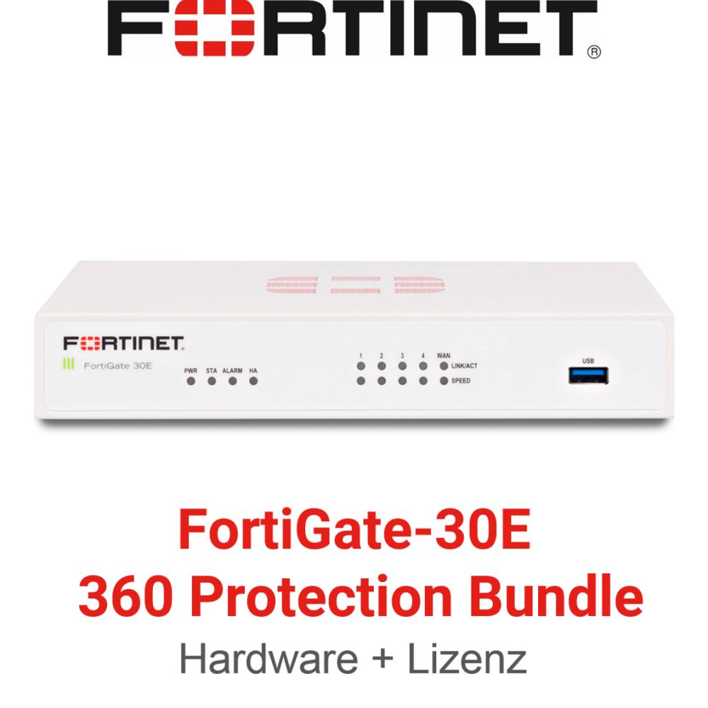 Fortinet FortiGate-30E - 360 Bundle (Hardware + Lizenz)