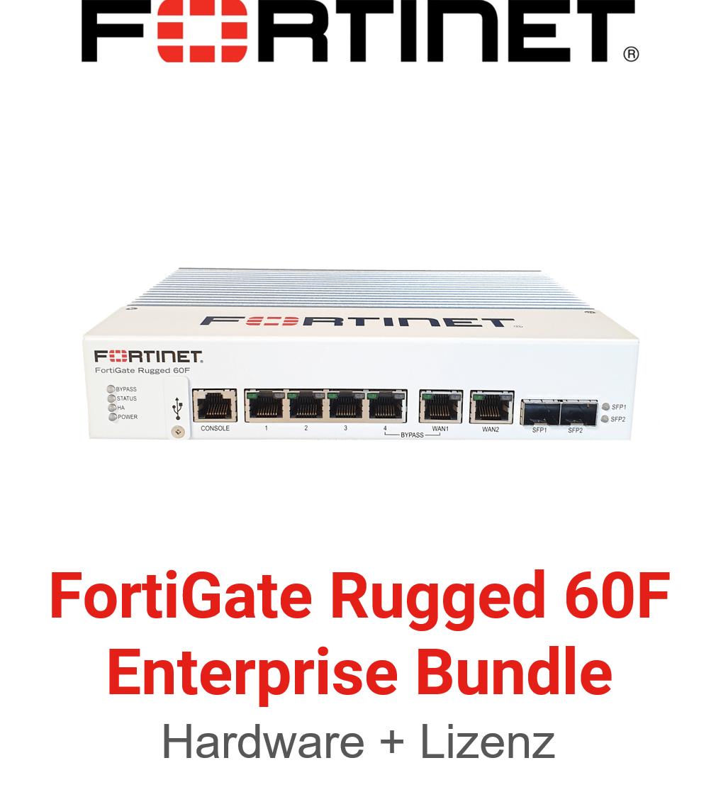 Fortinet FortiGateRugged-60F - Enterprise Bundle (Hardware + Lizenz)