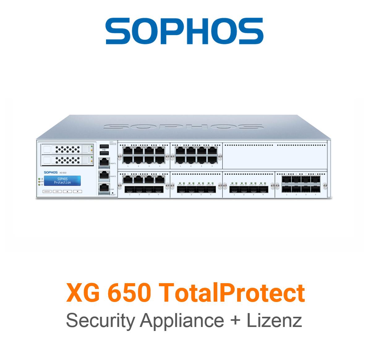 Sophos XG 650 TotalProtect Bundle (Hardware + Lizenz)