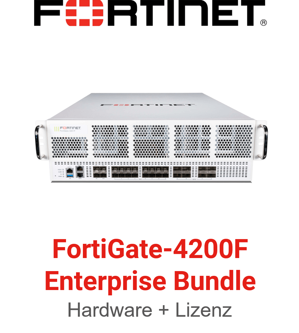 Fortinet FortiGate-4200F - Enterprise Bundle (Hardware + Lizenz)