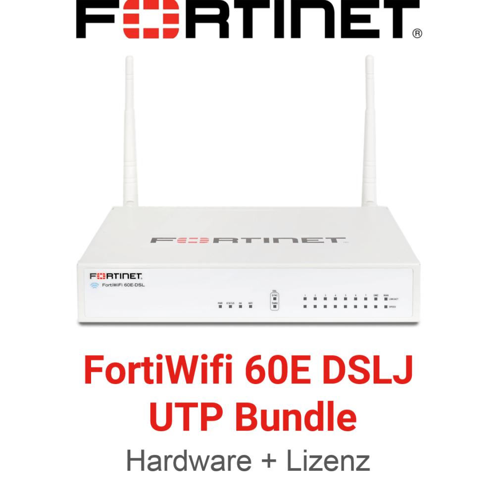 Fortinet FortiWifi-60E-DSLJ - UTM/UTP Bundle (Hardware + Lizenz)