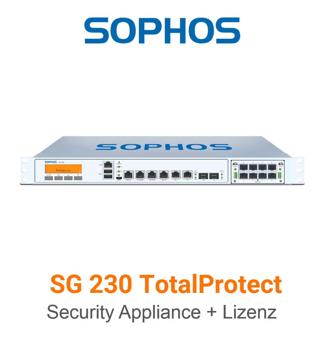 Sophos SG 230 TotalProtect Bundle (Hardware + Lizenz)