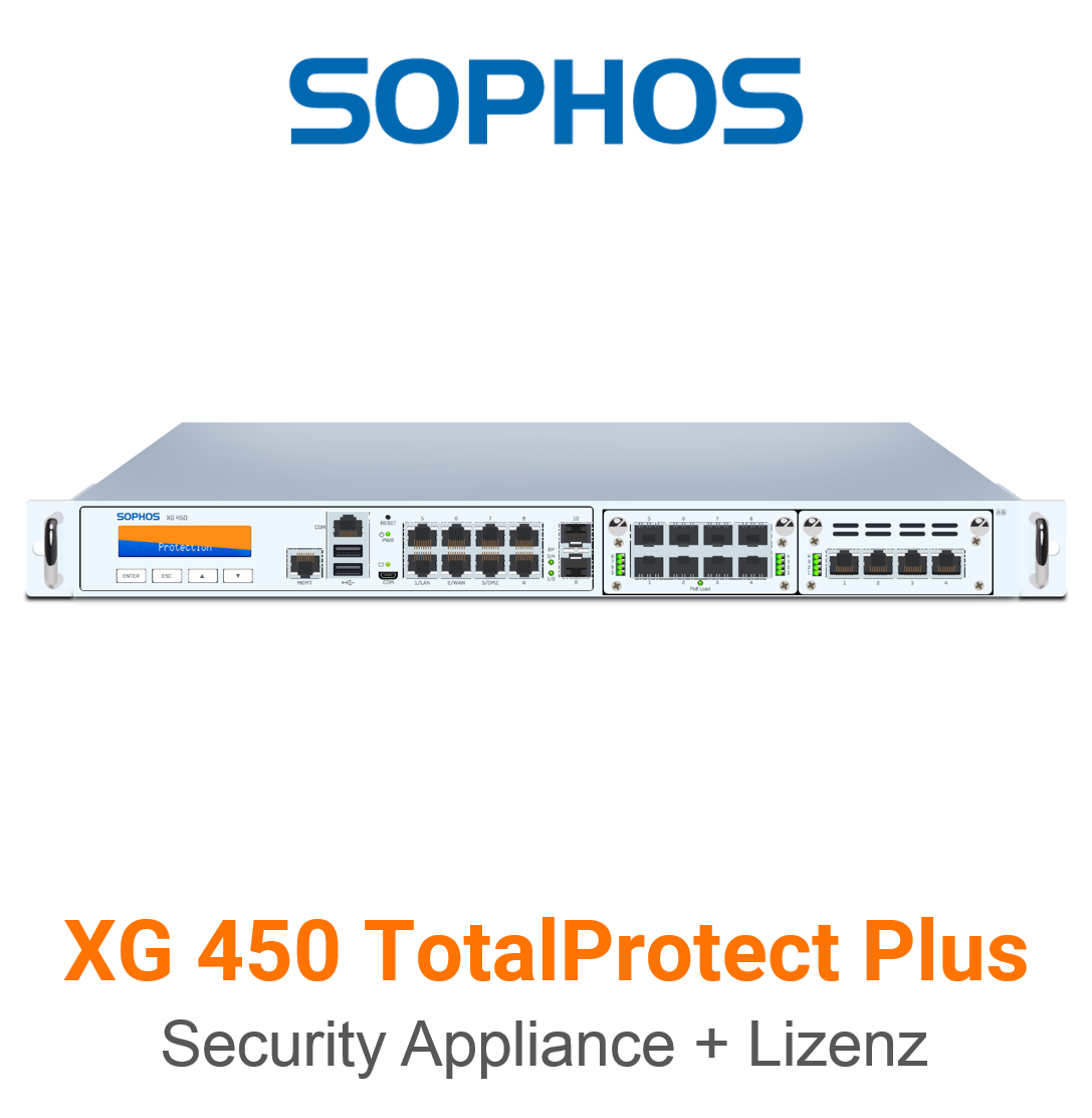 Sophos XG 450 TotalProtect Plus Bundle (Hardware + Lizenz)