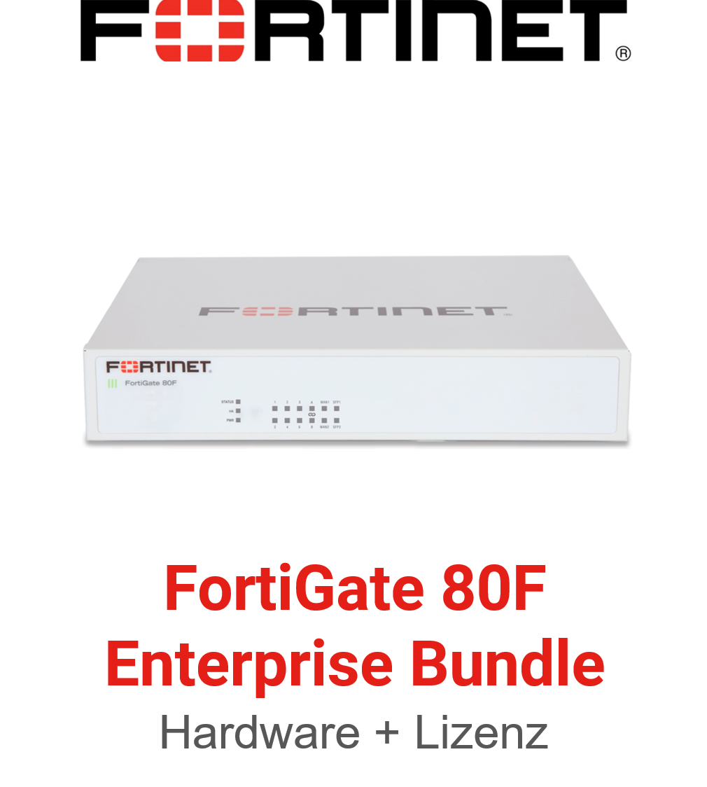 Fortinet FortiGate-80F - Enterprise Bundle (Hardware + Lizenz)