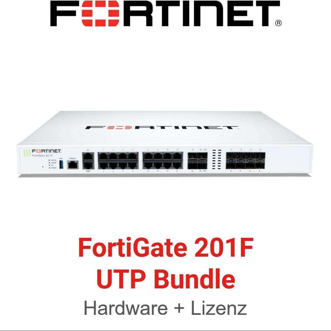 Fortinet FortiGate-201F - UTM/UTP Bundle (Hardware + Lizenz)
