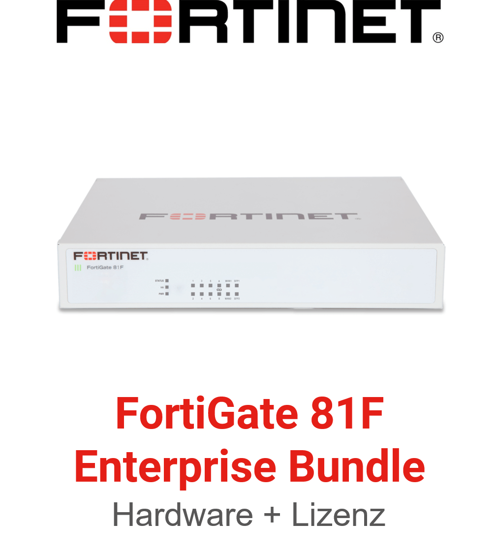 Fortinet FortiGate-81F - Enterprise Bundle (Hardware + Lizenz)