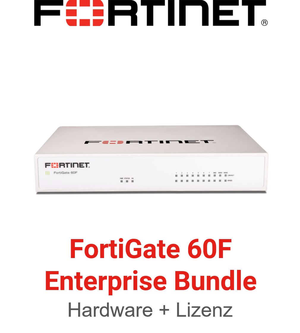 Fortinet FortiGate-60F - Enterprise Bundle (Hardware + Lizenz)
