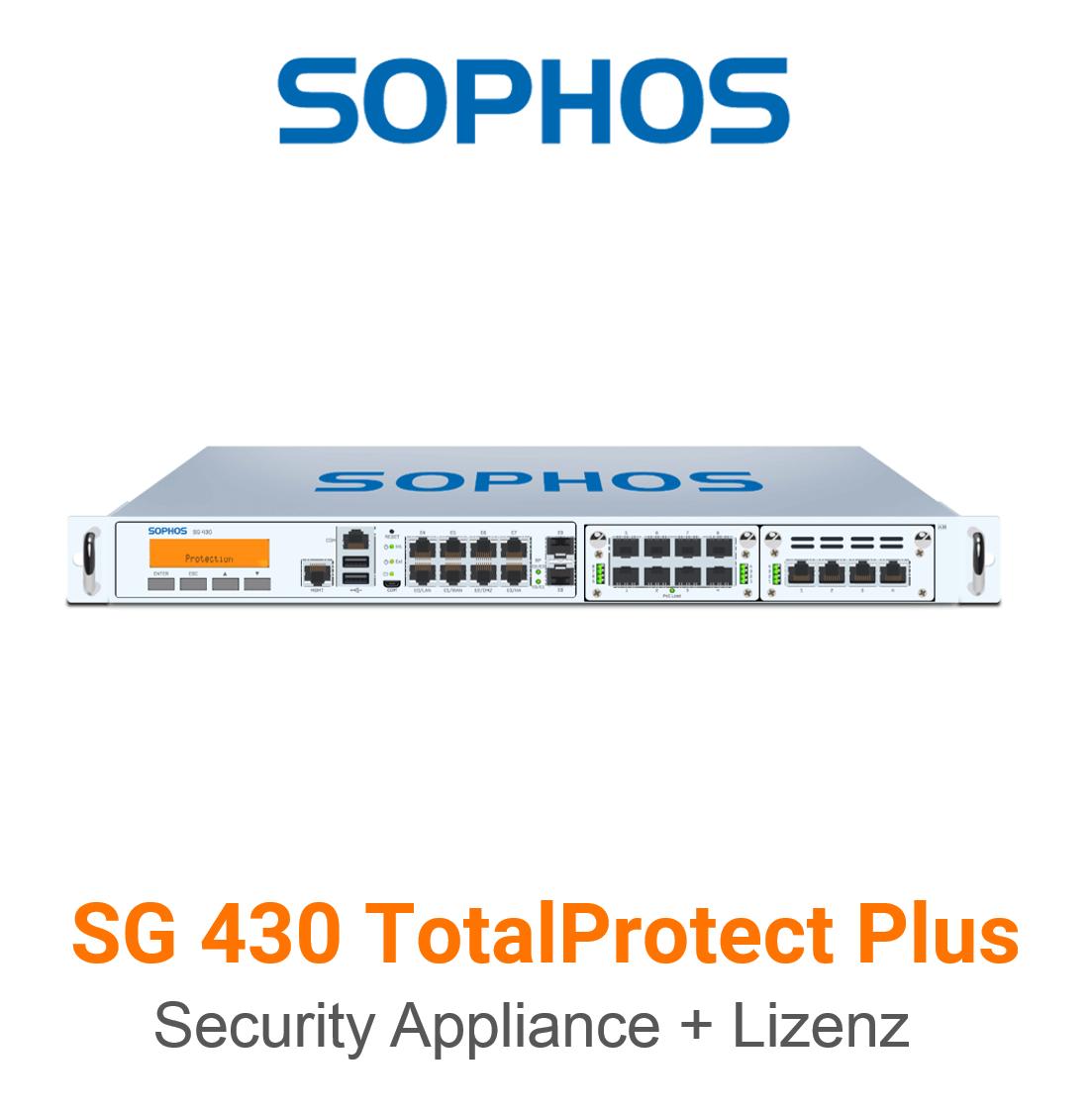 Sophos SG 430 TotalProtect Plus Bundle (Hardware + Lizenz)