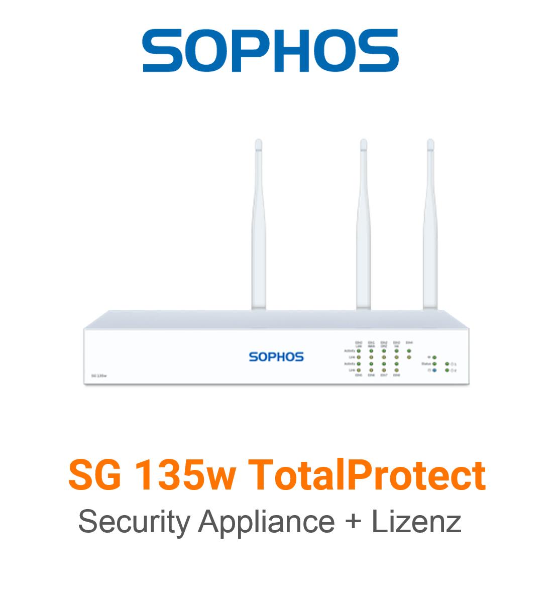 Sophos SG 135w TotalProtect Bundle (Hardware + Lizenz)