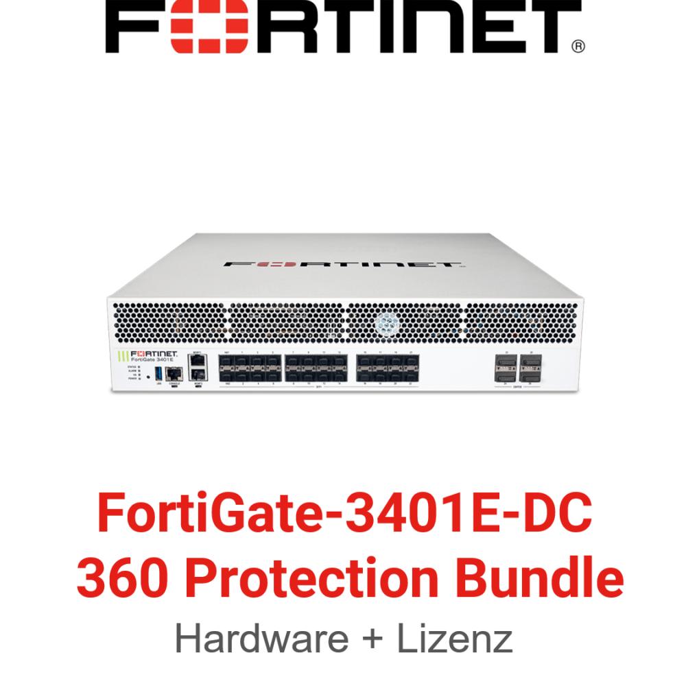 Fortinet FortiGate-3401E-DC - 360 Bundle (Hardware + Lizenz)