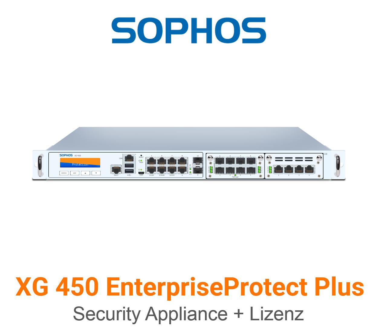 Sophos XG 450 EnterpriseProtect Plus Bundle (Hardware + Lizenz)