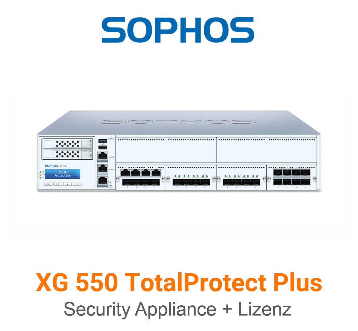 Sophos XG 550 TotalProtect Plus Bundle (Hardware + Lizenz)