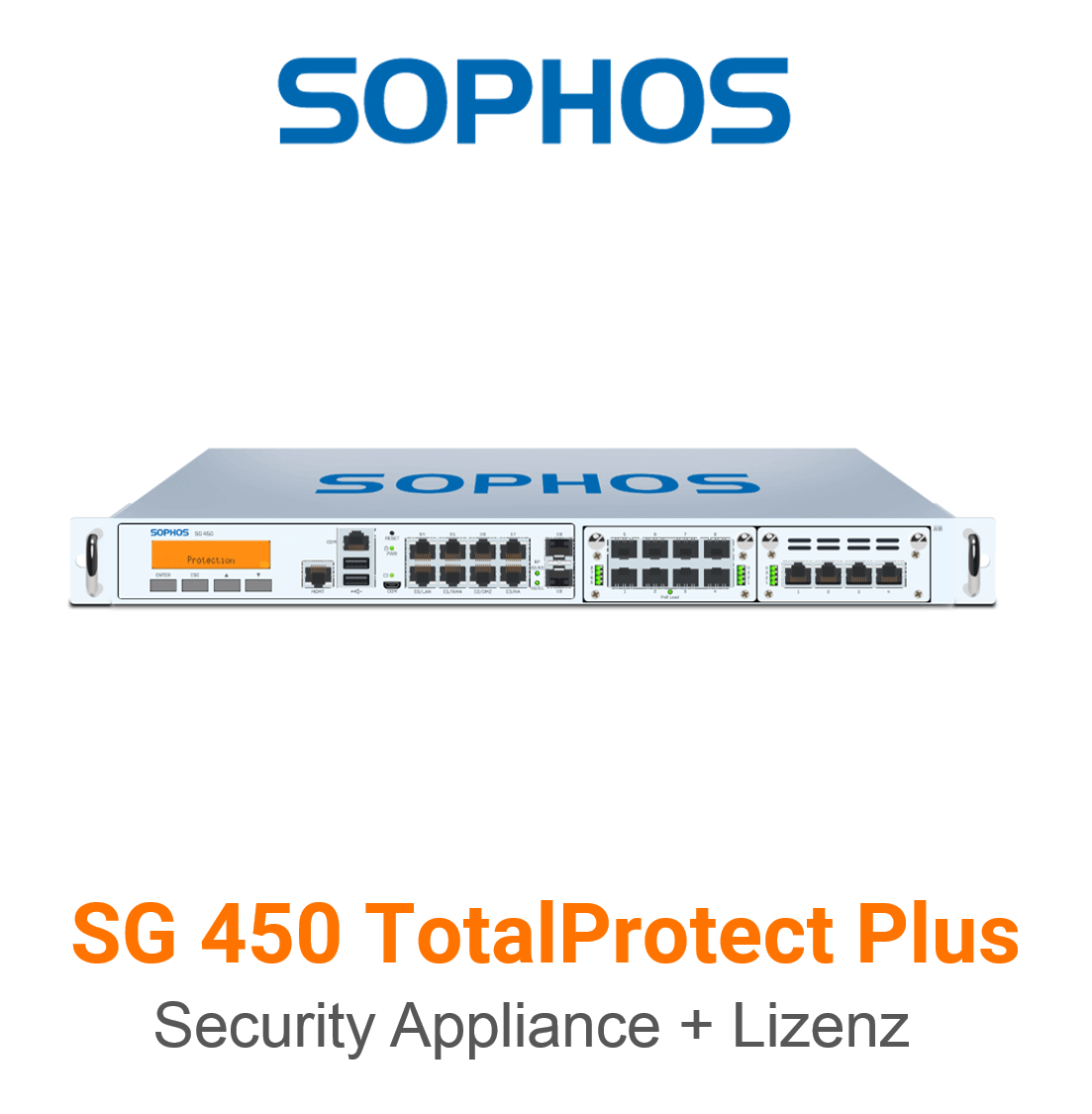Sophos SG 450 TotalProtect Plus Bundle (Hardware + Lizenz)