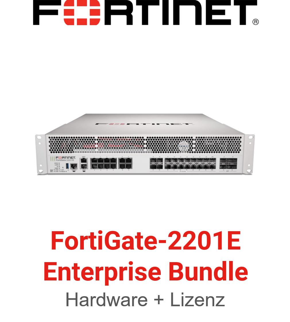 Fortinet FortiGate-2201E - Enterprise Bundle (Hardware + Lizenz)