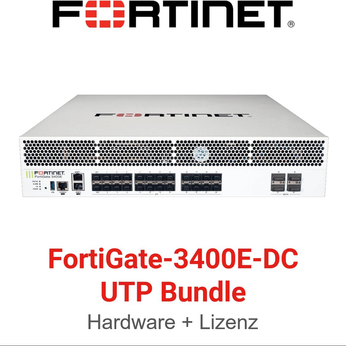 Fortinet FortiGate-3400E-DC - UTM/UTP Bundle (Hardware + Lizenz)