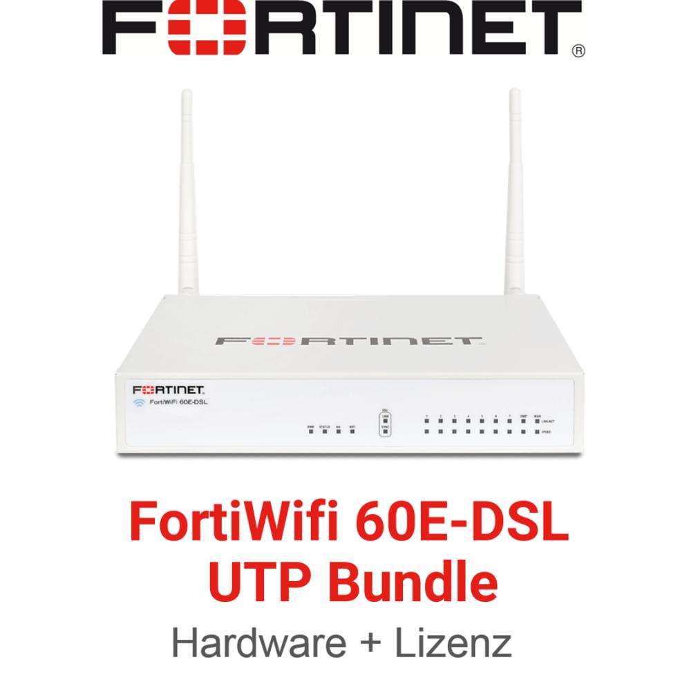 Fortinet FortiWifi-60E-DSL - UTM/UTP Bundle (Hardware + Lizenz)
