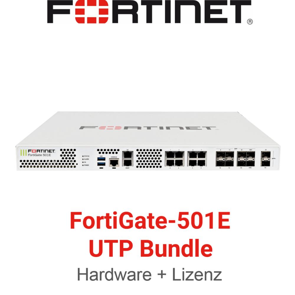 Fortinet FortiGate-501E - UTM/UTP Bundle (Hardware + Lizenz)