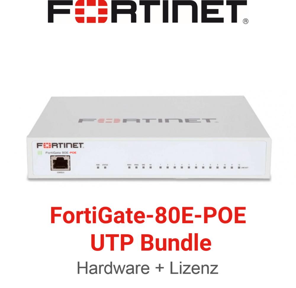 Fortinet FortiGate-80E-POE - UTM/UTP Bundle (Hardware + Lizenz)