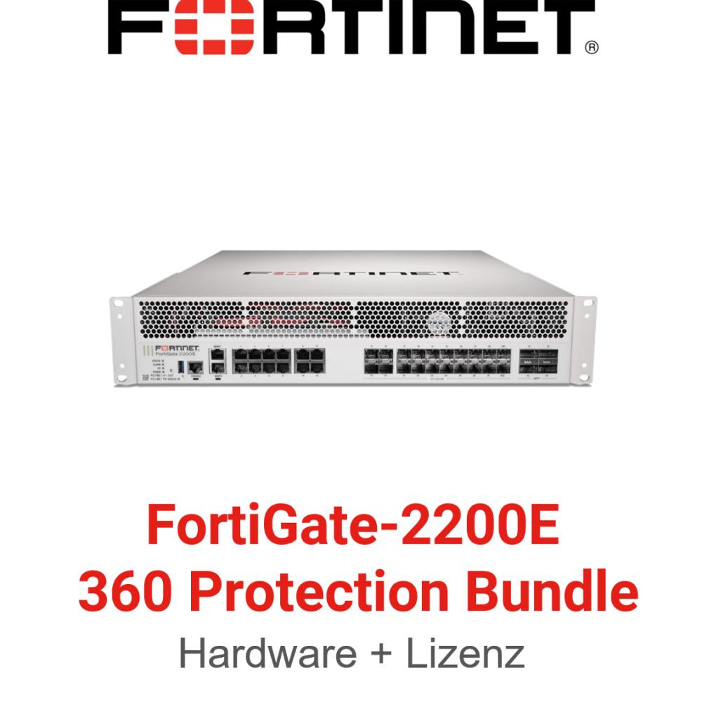 Fortinet FortiGate-2200E - 360 Bundle (Hardware + Lizenz)
