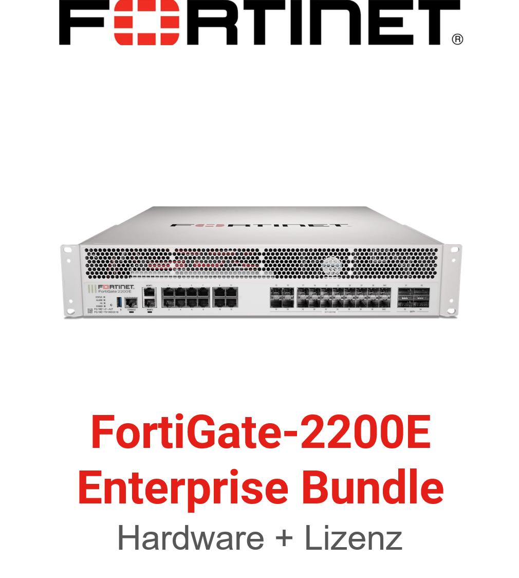 Fortinet FortiGate-2200E - Enterprise Bundle (Hardware + Lizenz)