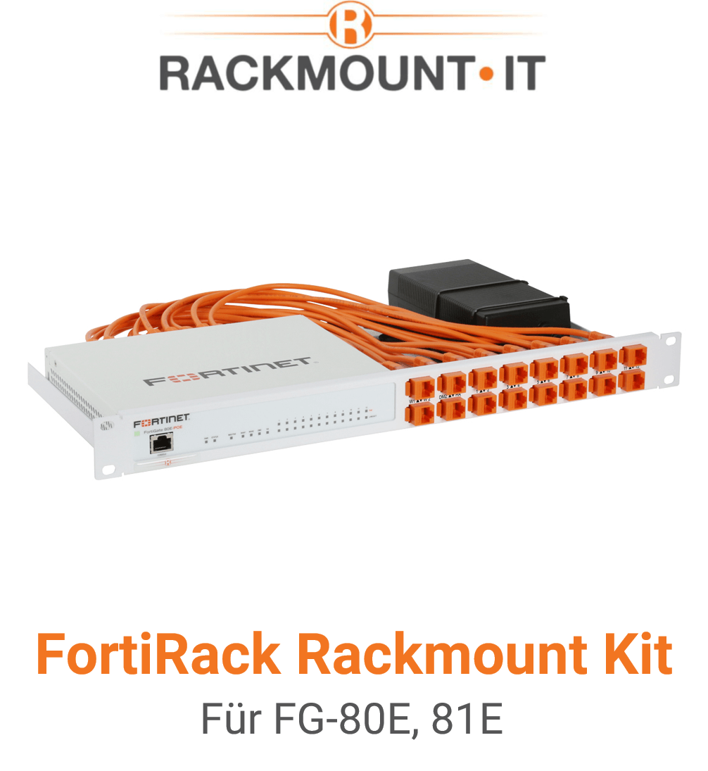 Rack Mount IT Kit für Fortinet FortiGate 80E / 81E