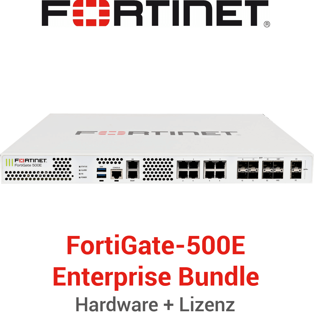 Fortinet FortiGate-500E - Enterprise Bundle (Hardware + Lizenz)