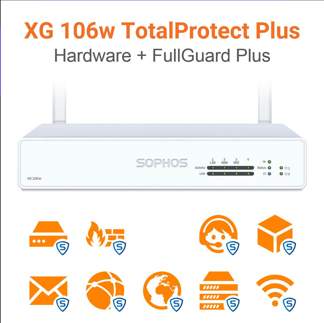 Sophos XG 106w TotalProtect Plus Bundle (Hardware + Lizenz)