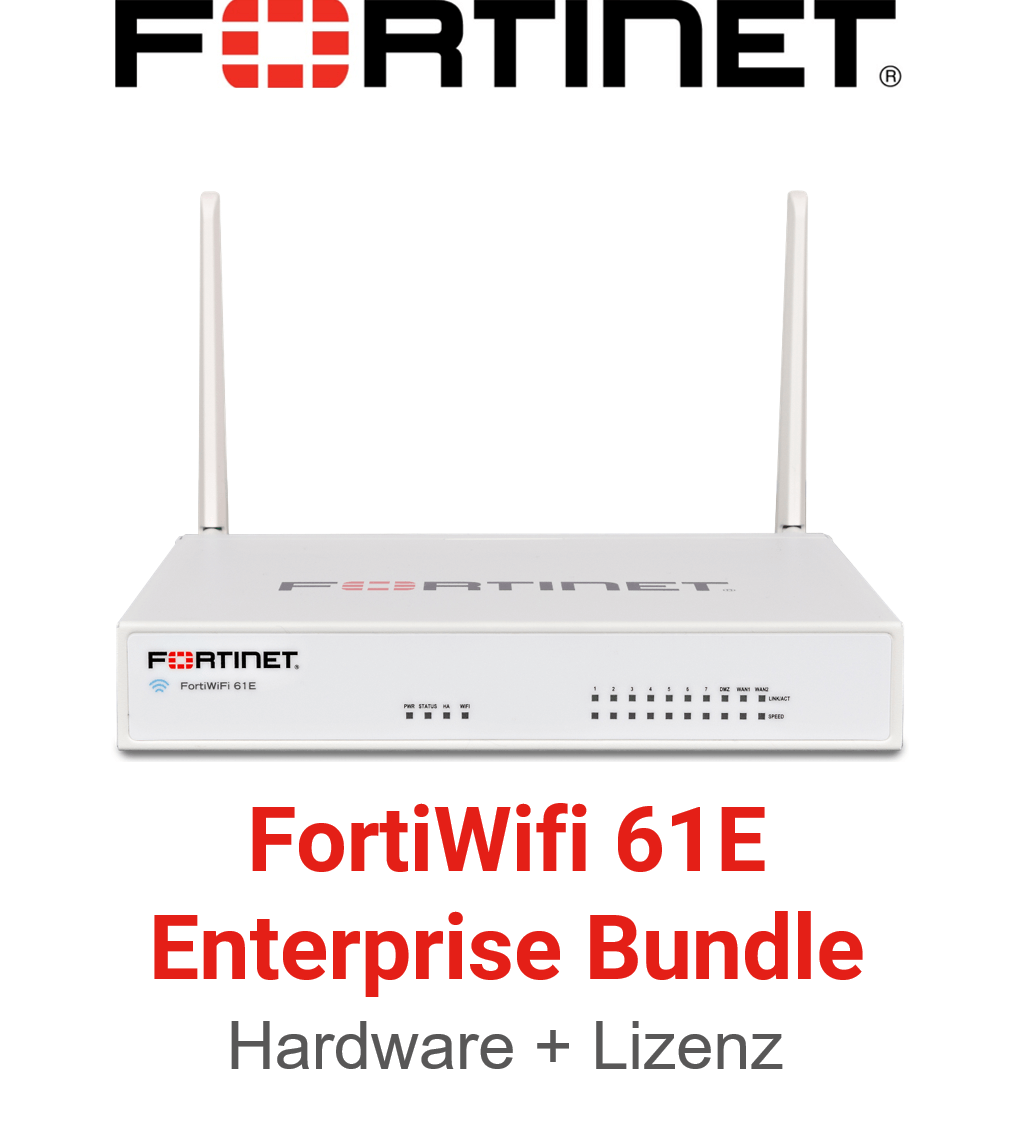 Fortinet FortiWifi 61E - Enterprise Bundle (Hardware + Lizenz)