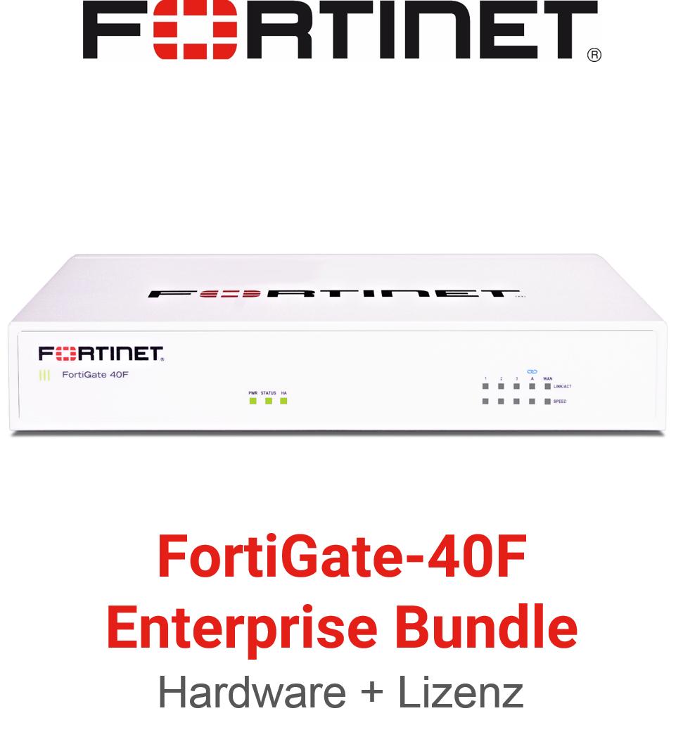 Fortinet FortiGate-40F - Enterprise Bundle (Hardware + Lizenz)