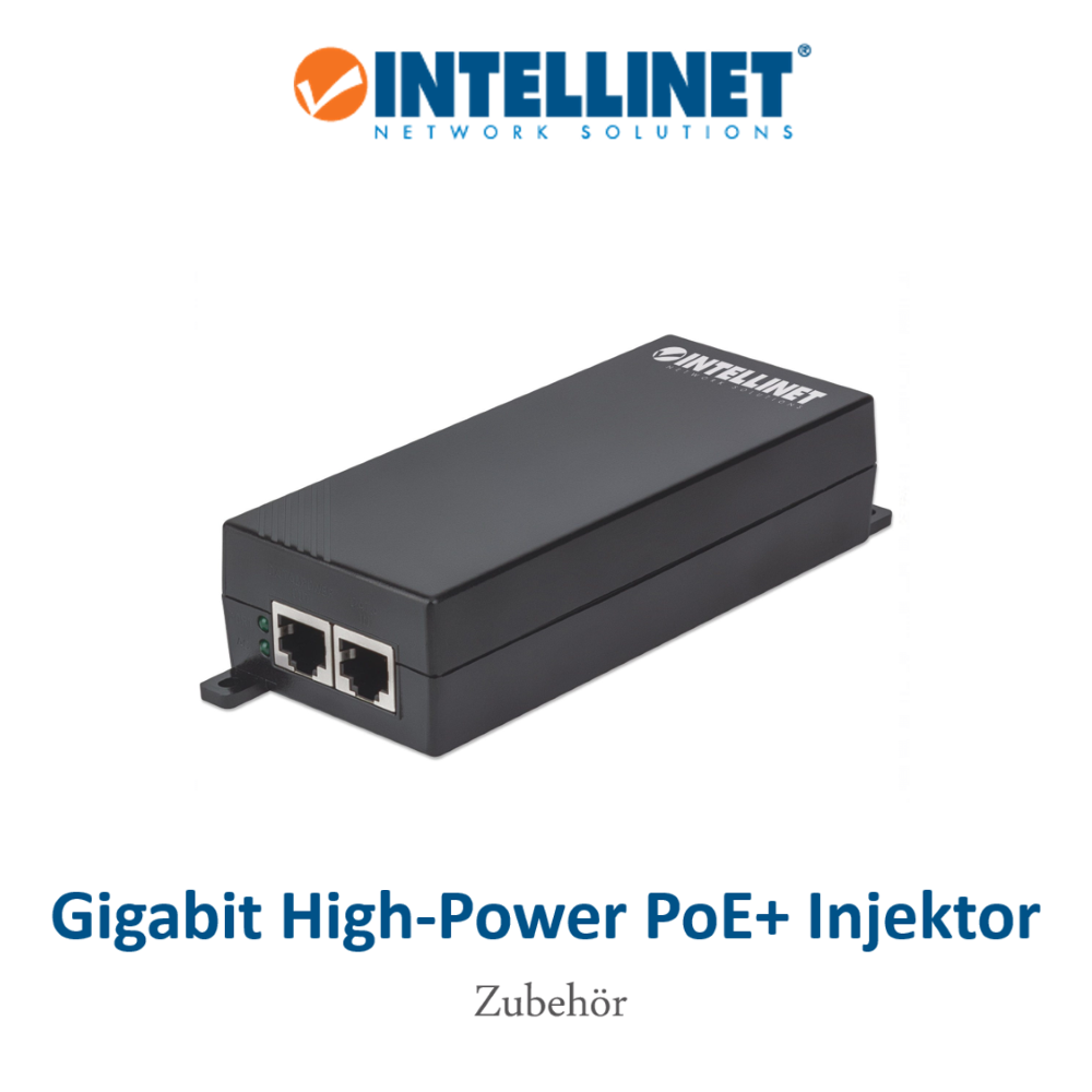 INTELLINET Gigabit PoE+ Injektor 30W