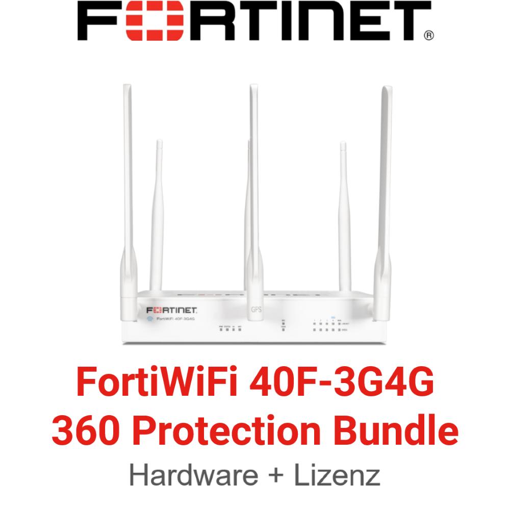 Fortinet FortiWifi-40F-3G4G - 360 Bundle (Hardware + Lizenz)