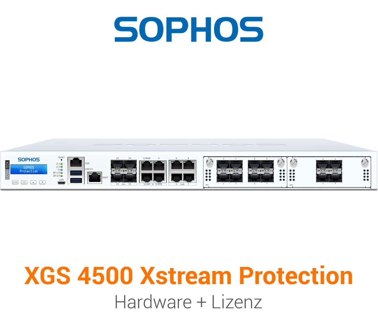 Sophos XGS 4500 mit Xstream Protection