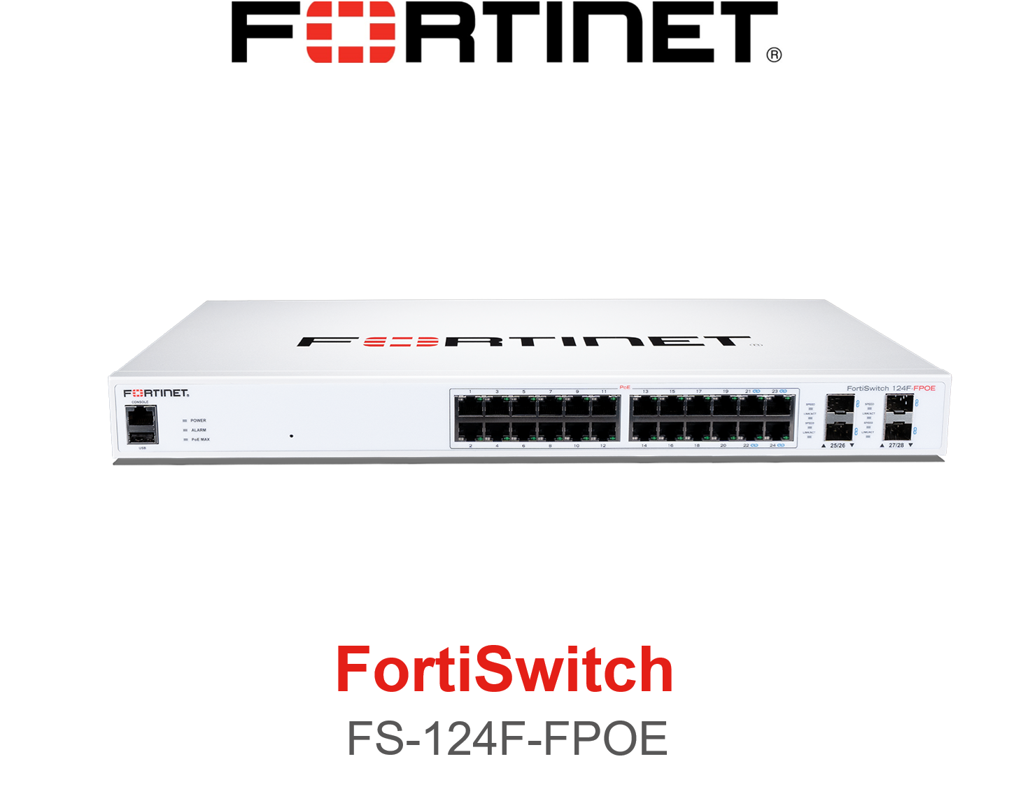 Fortinet FortiSwitch 124F FPOE