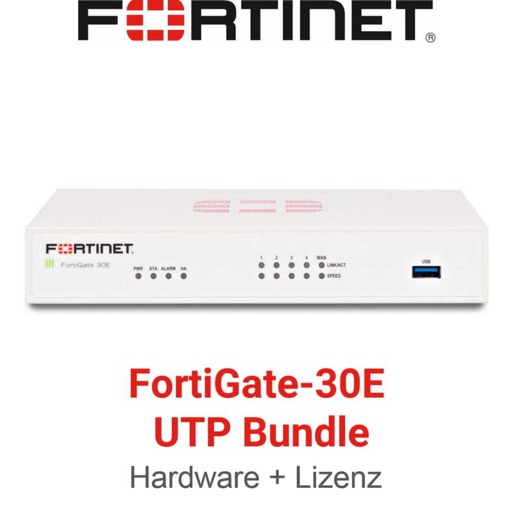 Fortinet FortiGate-30E - UTM/UTP Bundle (Hardware + Lizenz)