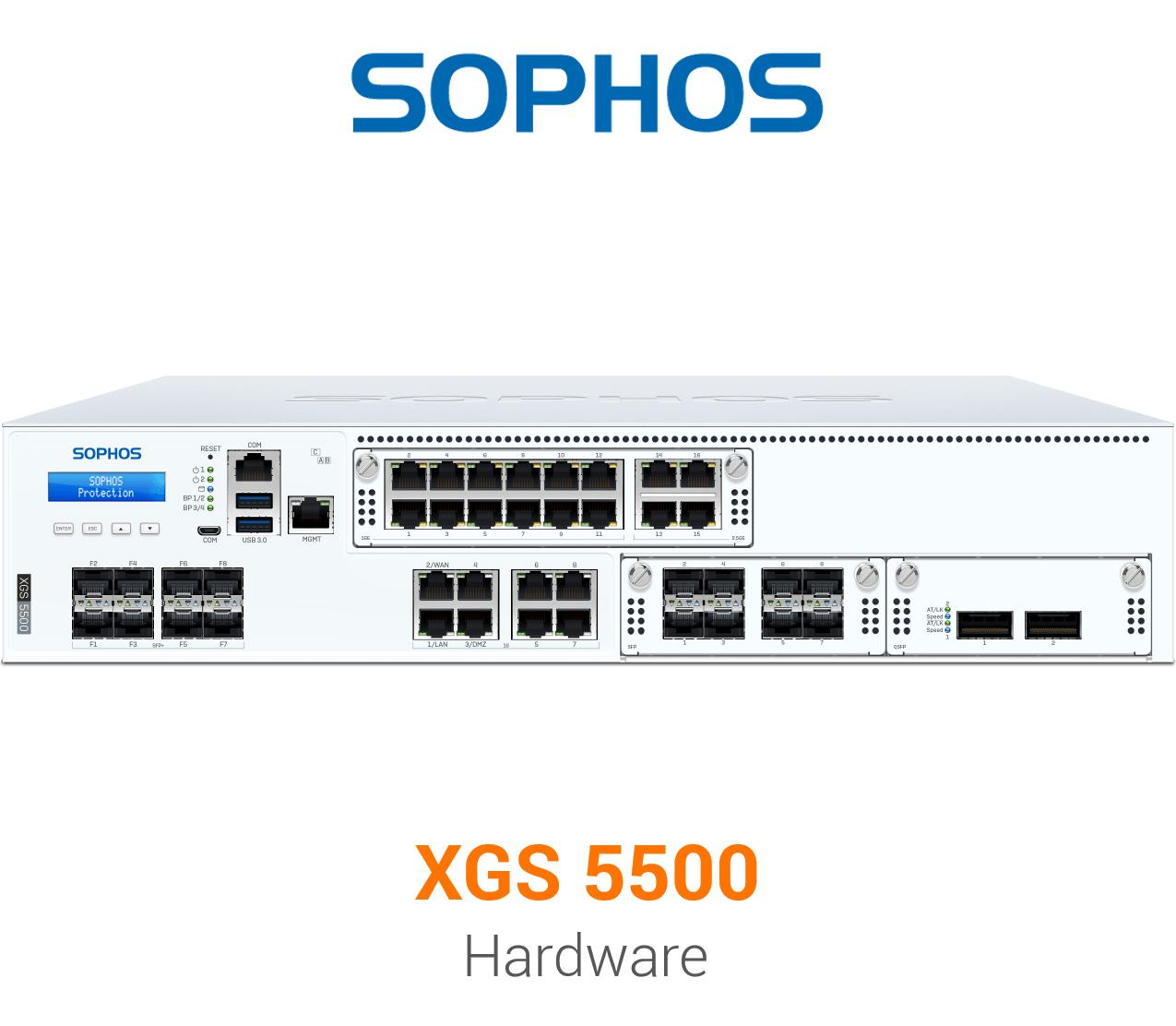 Sophos XGS 5500 Security Appliance