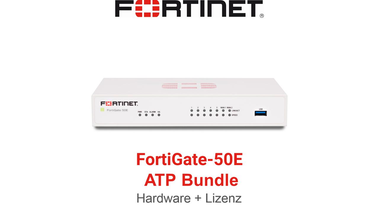 Fortinet FortiGate FG-50E ATP Bundle (Hardware + Lizenz)