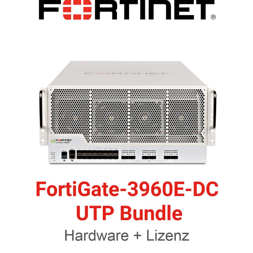 Fortinet FortiGate-3960E-DC - UTM/UTP Bundle (Hardware + Lizenz)