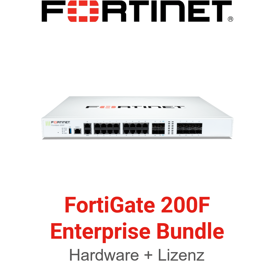 Fortinet FortiGate-200F - Enterprise Bundle (Hardware + Lizenz)