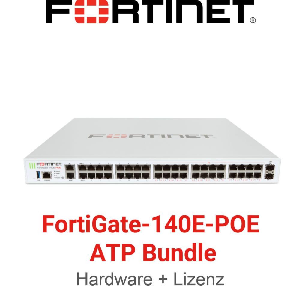 Fortinet FortiGate-140E-POE - ATP Bundle (Hardware + Lizenz)